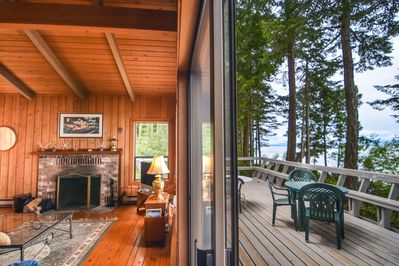 Partial view of waterside deck accessed from great room.