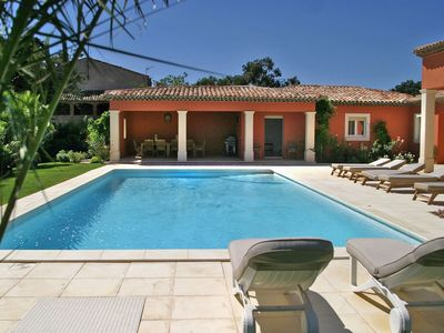 Photo for Stunning private villa for 8 guests with WIFI, private pool, TV, pets allowed and parking