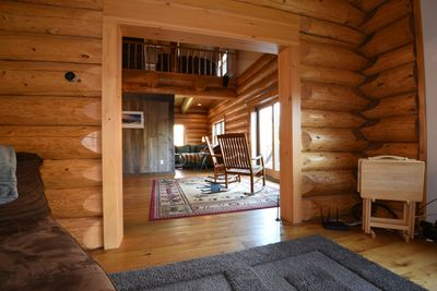 True Swedish scribed stacked log home