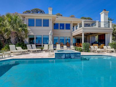 Photo for Large & luxurious Sea Pines home w/ direct beach access & private pool!