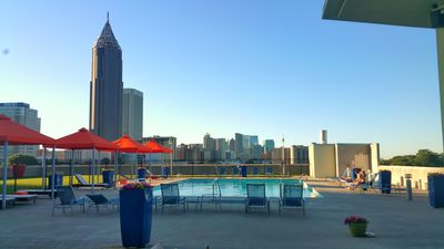 rooftop pool. It looks amazing at sunset!
