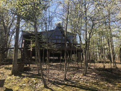 Photo for *New Listing!!* Naturally Bright Lakefront Chalet on Beautiful Teal Lake!