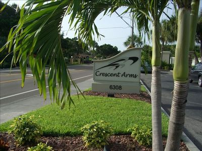 VIEW OF CRESCENT ARMS ENTRANCE SIGN