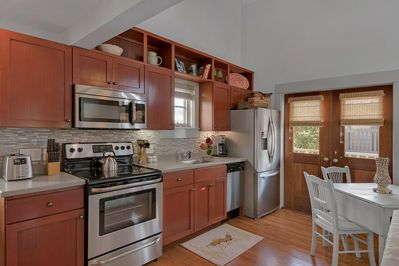 All new appliances in kitchen dining space for 4 guests