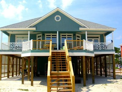 Photo for Waterfront home w/stunning ocean view, spacious deck & full kitchen