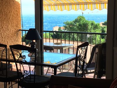 Photo for T2 apartment upscale facing the sea overlooking Collioure