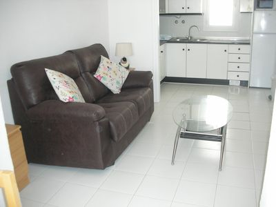 Photo for Spacious 1 Bedroom apartment large terrace A/C Satellite TV Wi-Fi Close to Beach