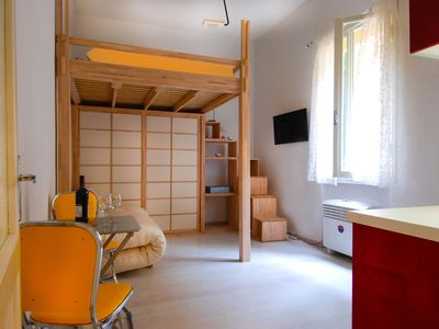 Photo for San Pietro A apartment in Bologna with WiFi & integrated air conditioning.