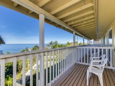 Photo for Lovely coastal condo w/ ocean views, walk to beach - dogs ok!