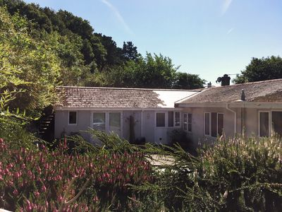 Photo for Secluded Studio Annex With Hillside Garden Sea & Country Views Close to Beaches