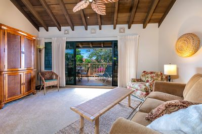 Living room opens onto over-sized lanai