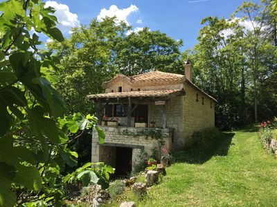 Photo for A picturesque cottage in the countryside near Montcuq ..