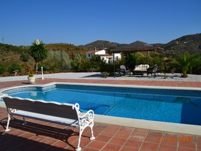 Photo for Holiday house in a quiet location, with a fantastic mountain panorama and large pool