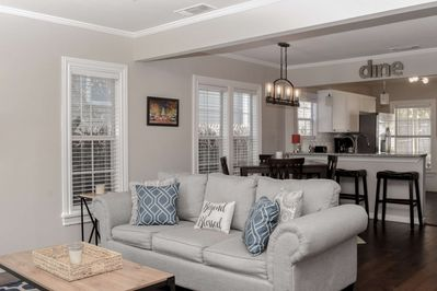 Great lighting and open floor plan bring out all the comforts of home