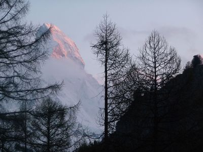 Photo for 3 1/2 Room non-smoking apartment with free WIFI and Matterhorn view