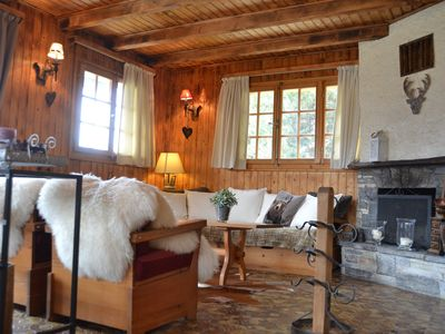 Photo for Outside : Chalet in the center of the village, for 7 persons, Balcony and Terrace with South view -I