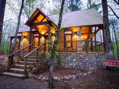 Photo for Chasing Fireflies (1 Bdrm)(Luxury Cabin)(Hot Tub)
