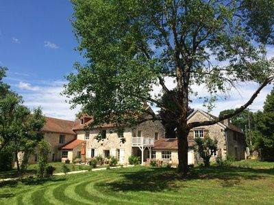 Photo for Rent old farmhouse with heated pool and tennis - 14 people in Côte-D'O