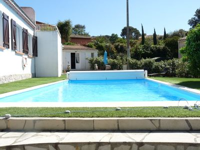 Photo for T3 Top of villa with pool at Brusc
