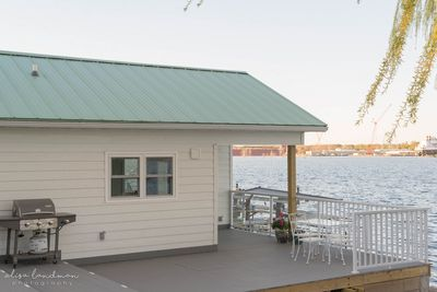 Lily Pad Cottage, is ON the water!