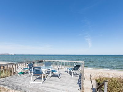 Photo for Special July $475/night - Enjoy Your Own Private Beach - Peconic Bay Waterfront