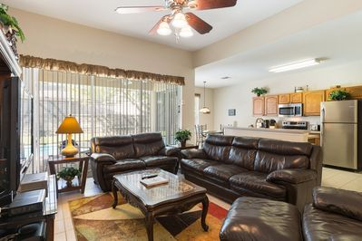 Spacious relaxing family room