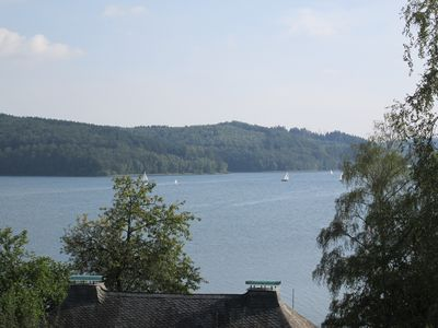 Photo for with swimming pool and view of the Sorpesee