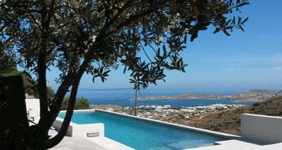 Photo for Paros, spacious villa with a swimming pool and a wonderful view - Villa Lonikos
