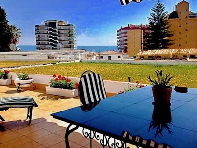 Photo for Sea view, huge patio, minutes walk from train, beaches and thriving nightlife.