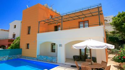 Photo for Villa with Private Pool and Breathtaking Sea Views in the desirable Village of Plaka!