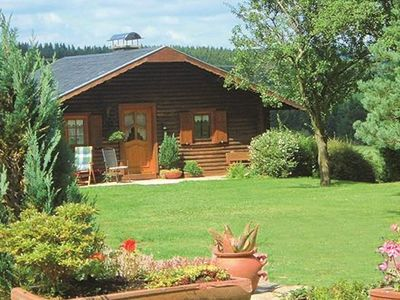 Photo for Holiday log cabin for sole use - 3 bed holiday cottage