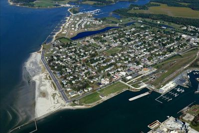 An aerial view of Cape Charles