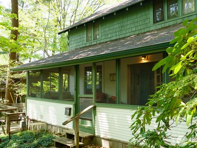 Classic Lake Cottage nestled in Wooded Dunes just steps from the Beach!