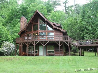 Photo for RIVERFRONT! Picnic & campfire by the river alongside this amazing Chalet