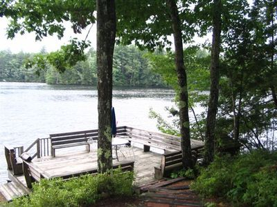 Photo for Private Lakefront Home, Camp Haven, is a great place for a family vacation!