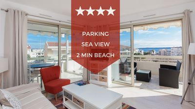 Photo for KIKILOUE ❤ RARE ❤  Sea view & terrace in the heart of Cannes Palm Beach