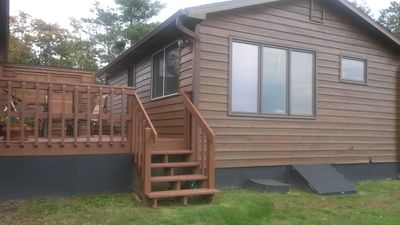 Photo for Breezy Bay Lakefront Cabin with Beautiful View of Lake Nokomis-Tomahawk, Wi