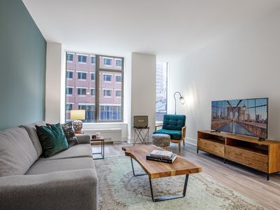 Photo for Gorgeous FiDi 1BR w/ Gym, Doorman, Walk to Wall St, by Blueground