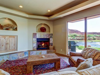 Photo for Dog-friendly, waterfront condo w/ shared pool & hot tub - close to Zion!