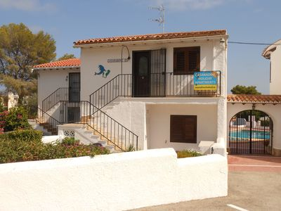 Photo for Moraira,Clean,Legal,All mod cons,1 Bed Apt UKTV WiFi,Pool,Sea view,Beach 200 mts