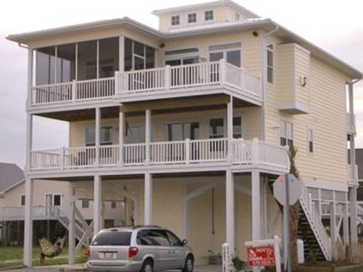 Photo for Weeks starting at $1755.  Great Ocean Views.  5 BR/5 BA Across Street from Beach