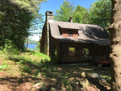Photo for Year round lake front LOG CABIN on over 2 acres on Loon Lake updated in 2018