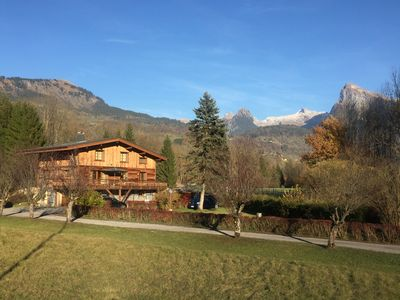 Photo for Luxury secluded chalet backing onto Morillon's Lac Bleu