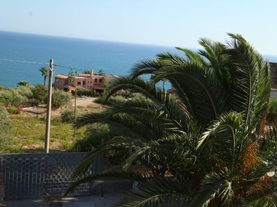 Photo for Sea view apartment with climate and private parking, for an unforgettable holiday.