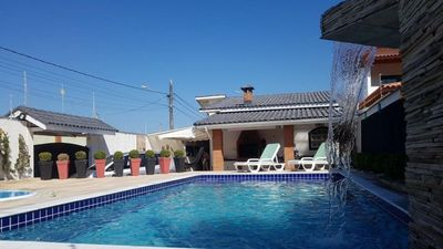 Photo for Luxury beach house, air cond, adult pool with hydro and children, waterfall, barbecue
