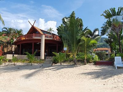 Photo for Thai Style Beachfront 3 bed Villa with Pool