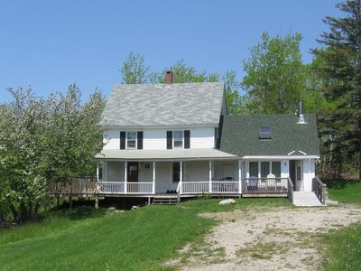 Photo for New England farmhouse on a quiet cove just steps to beach. Fully accessible.