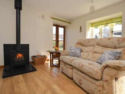 Relax by the cosy wood burner