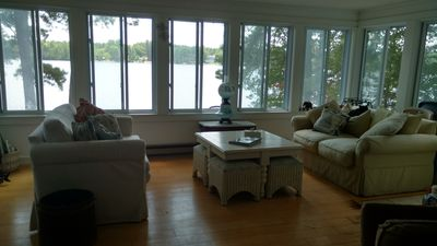Photo for see the loons from this lake front house