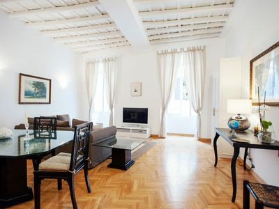 Photo for Rome, near Piazza di Spagna, modern and spacious apartment for 8